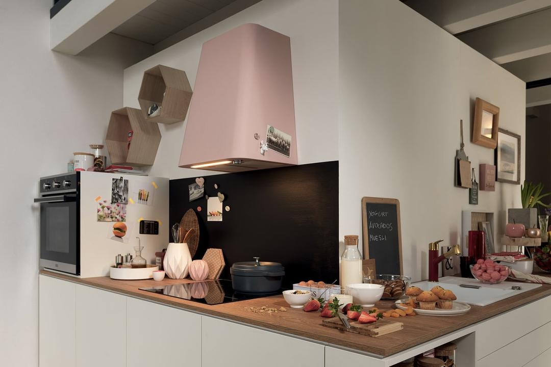 Smart Deco Kitchen Hood in Matt Rose from FRANKE