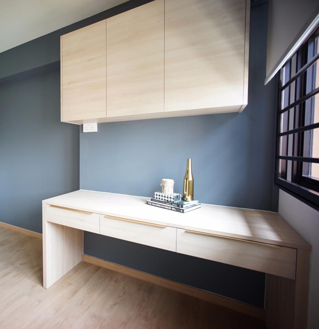 Contemporary, HDB, Study, Buangkok Crescent, Interior Designer, Karpentree Studio