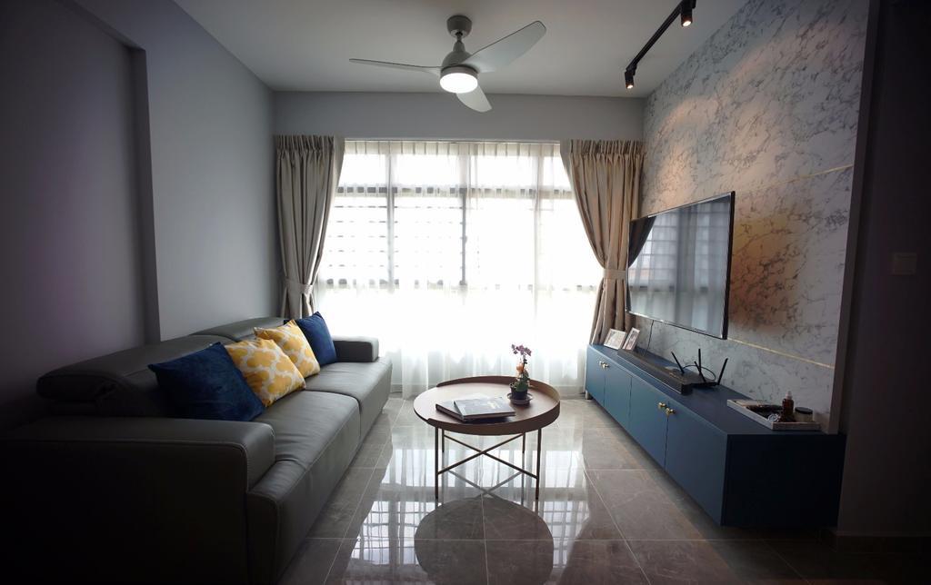 Contemporary, HDB, Living Room, Buangkok Crescent, Interior Designer, Karpentree Studio