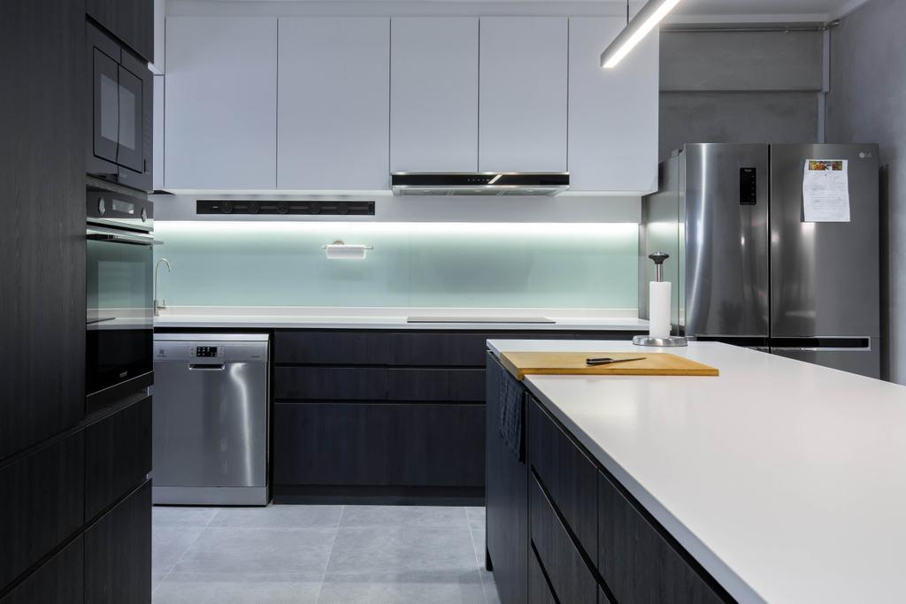 Modern, HDB, Kitchen, Lorong Ah Soo, Interior Designer, Inizio Atelier, Contemporary