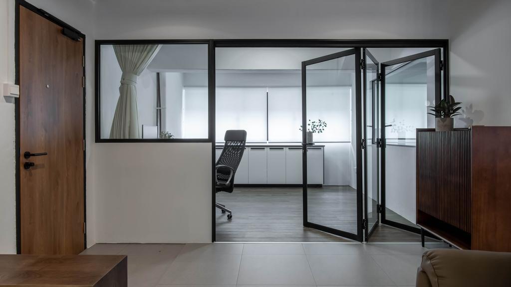 Modern, HDB, Study, Lorong Ah Soo, Interior Designer, Inizio Atelier, Contemporary