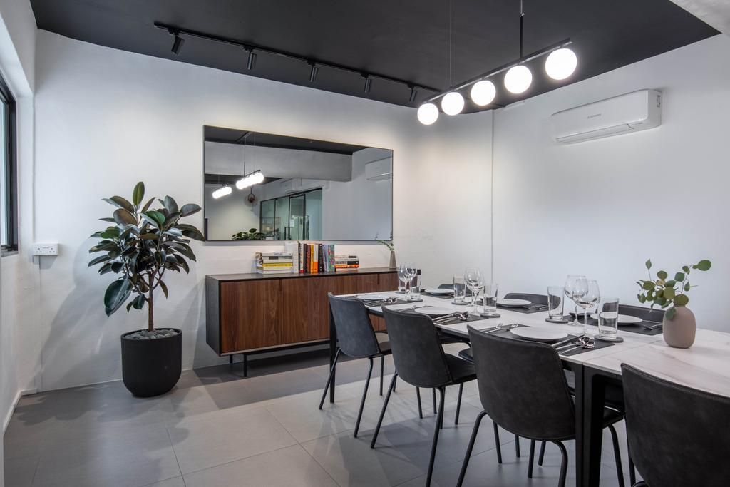 Modern, HDB, Dining Room, Lorong Ah Soo, Interior Designer, Inizio Atelier, Contemporary