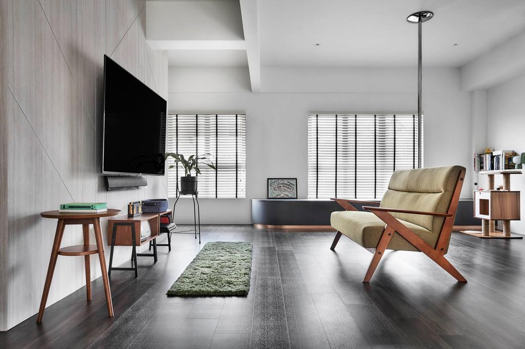 Contemporary, HDB, Living Room, East Coast Park, Interior Designer, Third Avenue Studio, Scandinavian