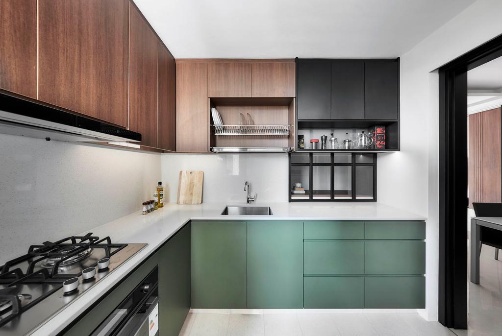 Contemporary, Condo, Kitchen, Tangerine Grove, Interior Designer, Third Avenue Studio
