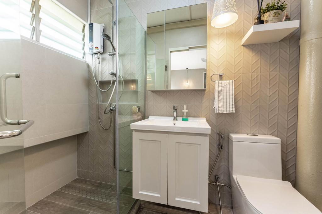 Modern, HDB, Bathroom, Bukit Batok West Avenue 7, Interior Designer, Todz'Terior