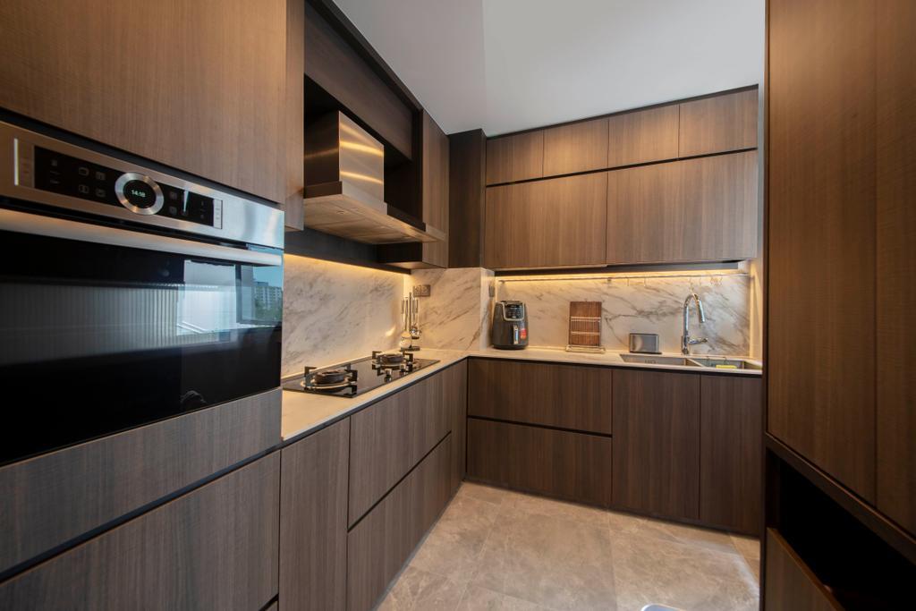Contemporary, HDB, Kitchen, Ang Mo Kio Central, Interior Designer, Groove Interior Design