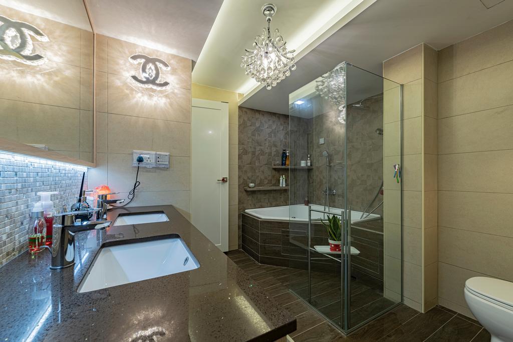 Modern, HDB, Bathroom, Jurong East Avenue 1, Interior Designer, DM+, Scandinavian