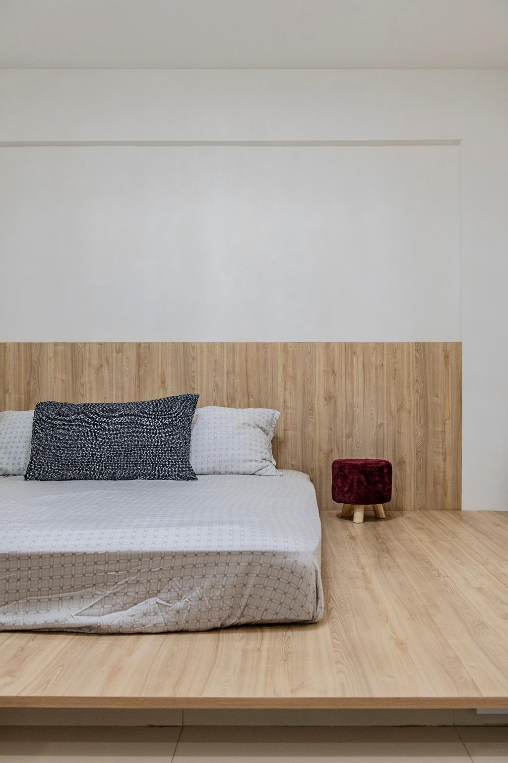 Modern, HDB, Bedroom, Jurong East Avenue 1, Interior Designer, DM+, Scandinavian