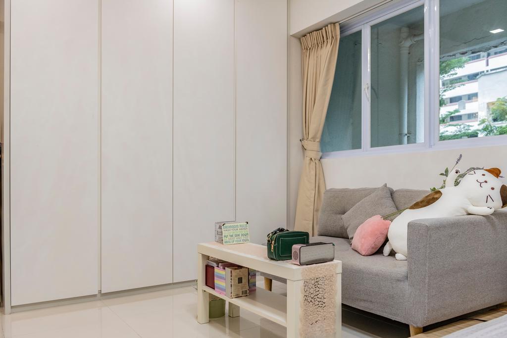 Modern, HDB, Living Room, Jurong East Avenue 1, Interior Designer, DM+, Scandinavian