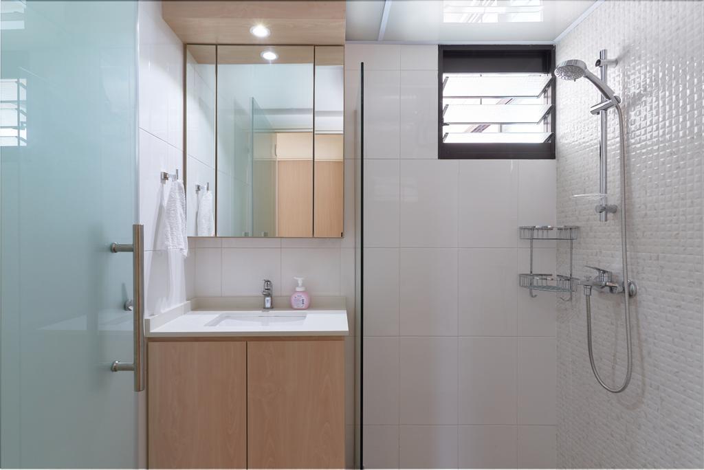 Scandinavian, HDB, Bathroom, Buangkok Crescent, Interior Designer, DM+