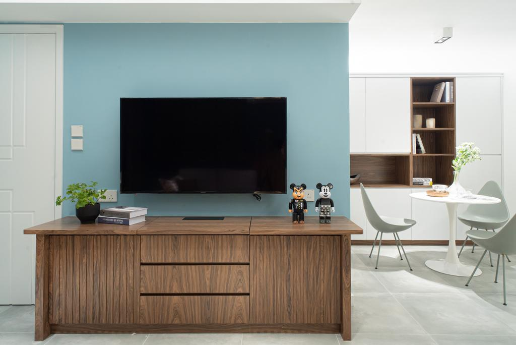 當代, 私家樓, 客廳, The Wonderland, 室內設計師, B.R.G. Interior Design, 北歐