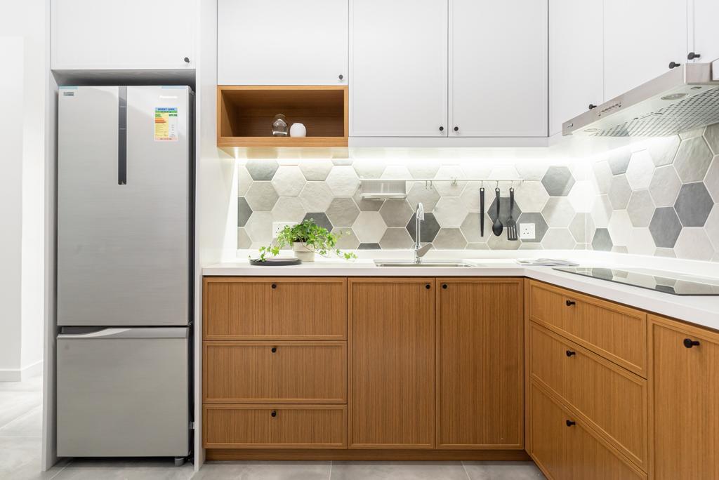 當代, 私家樓, 廚房, The Wonderland, 室內設計師, B.R.G. Interior Design, 北歐