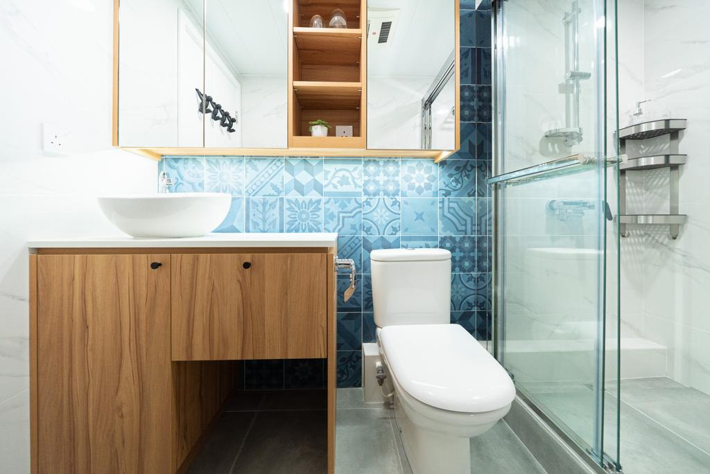 當代, 私家樓, 浴室, The Wonderland, 室內設計師, B.R.G. Interior Design, 北歐
