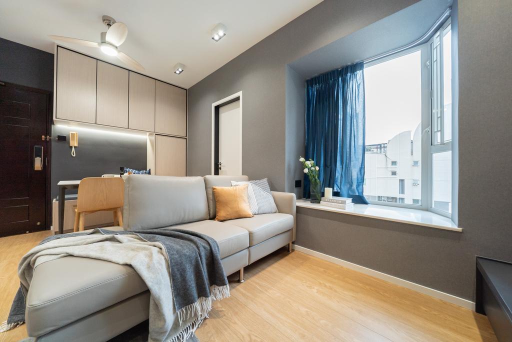 北歐, 私家樓, 客廳, Golden Lodge, 室內設計師, B.R.G. Interior Design