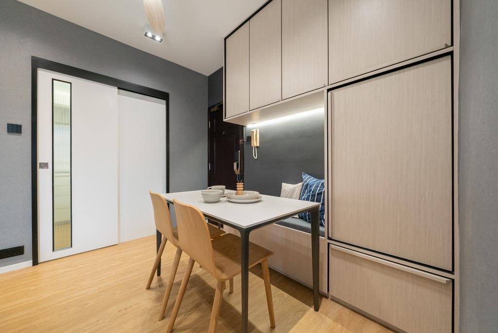 北歐, 私家樓, 飯廳, Golden Lodge, 室內設計師, B.R.G. Interior Design