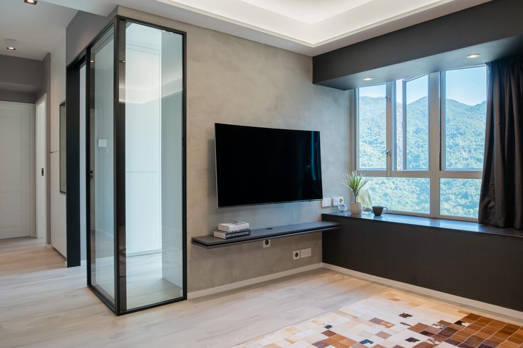 當代, 私家樓, 客廳, Garden Vista, 室內設計師, B.R.G. Interior Design