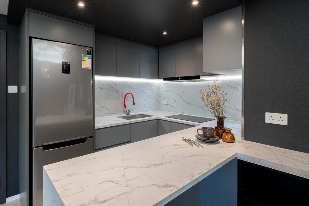當代, 私家樓, 廚房, Garden Vista, 室內設計師, B.R.G. Interior Design
