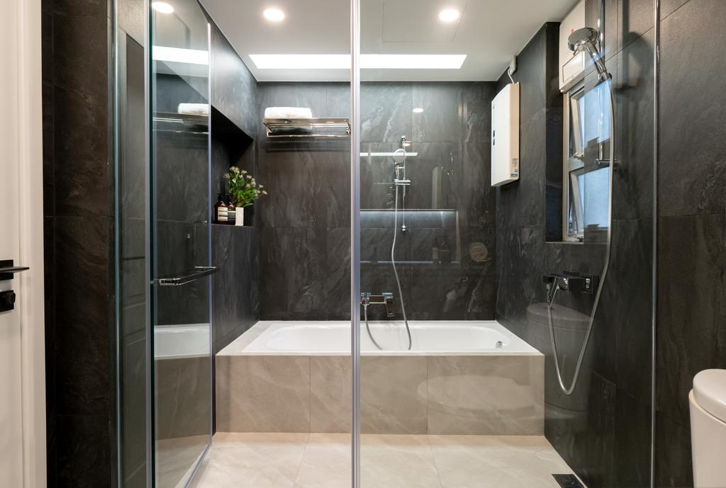 當代, 私家樓, 浴室, Garden Vista, 室內設計師, B.R.G. Interior Design