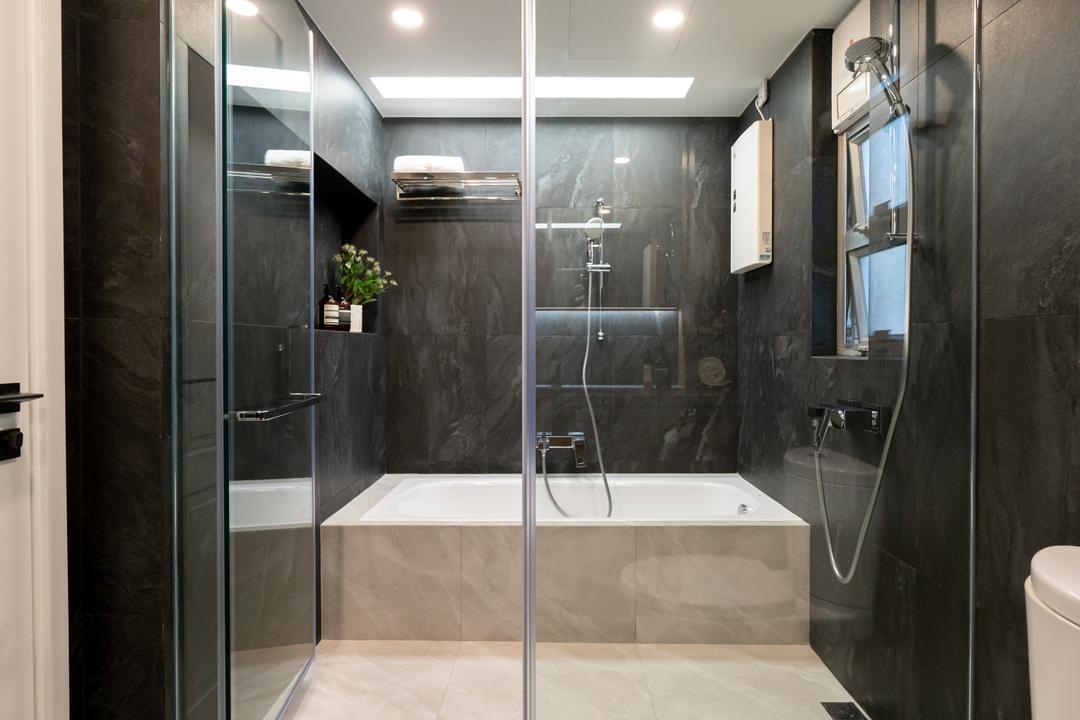 Garden Vista, B.R.G. Interior Design, 當代, 浴室, 私家樓