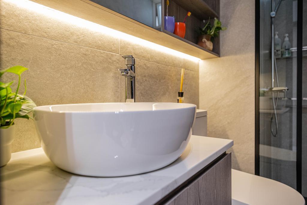 Modern, Condo, Bathroom, La Casa, Interior Designer, Builders Plus, Contemporary