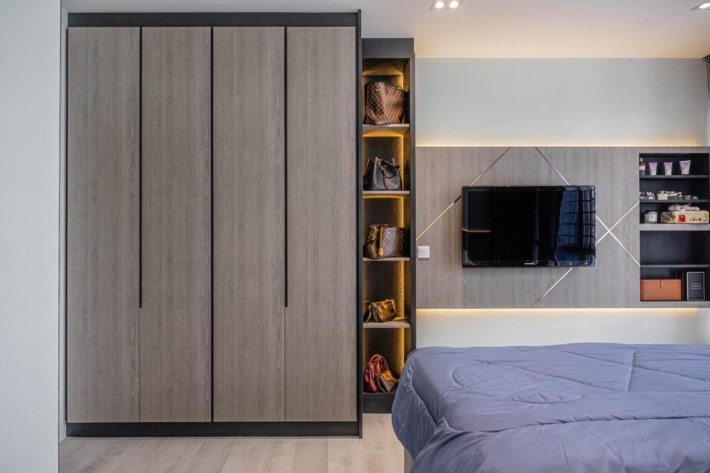 Modern, Condo, Bedroom, La Casa, Interior Designer, Builders Plus, Contemporary