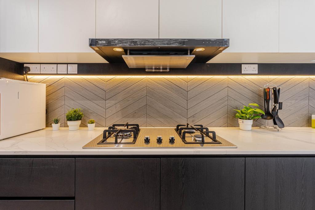 Modern, Condo, Kitchen, La Casa, Interior Designer, Builders Plus, Contemporary