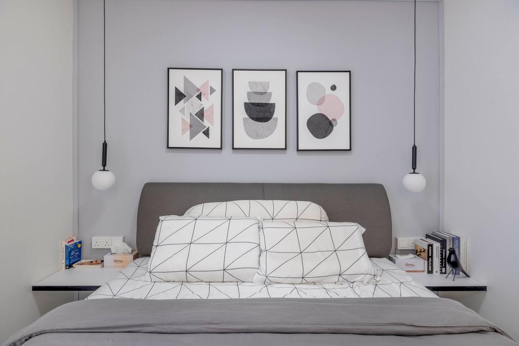 Minimalistic, HDB, Bedroom, Simei Street 1, Interior Designer, Starry Homestead