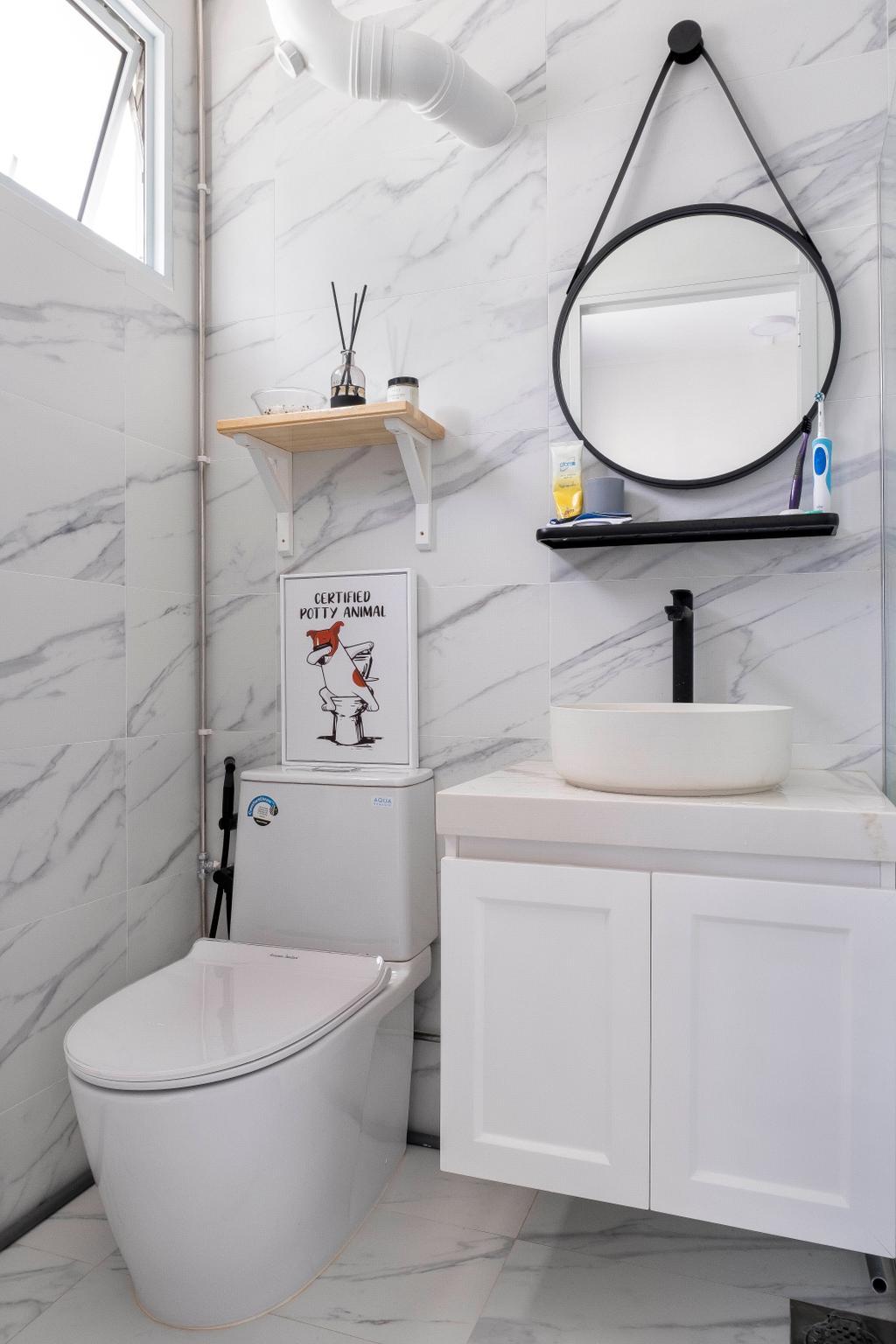 Minimalistic, HDB, Bathroom, Simei Street 1, Interior Designer, Starry Homestead