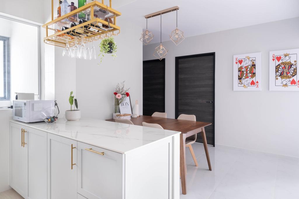 Modern, HDB, Dining Room, Clementi Avenue 3, Interior Designer, Starry Homestead
