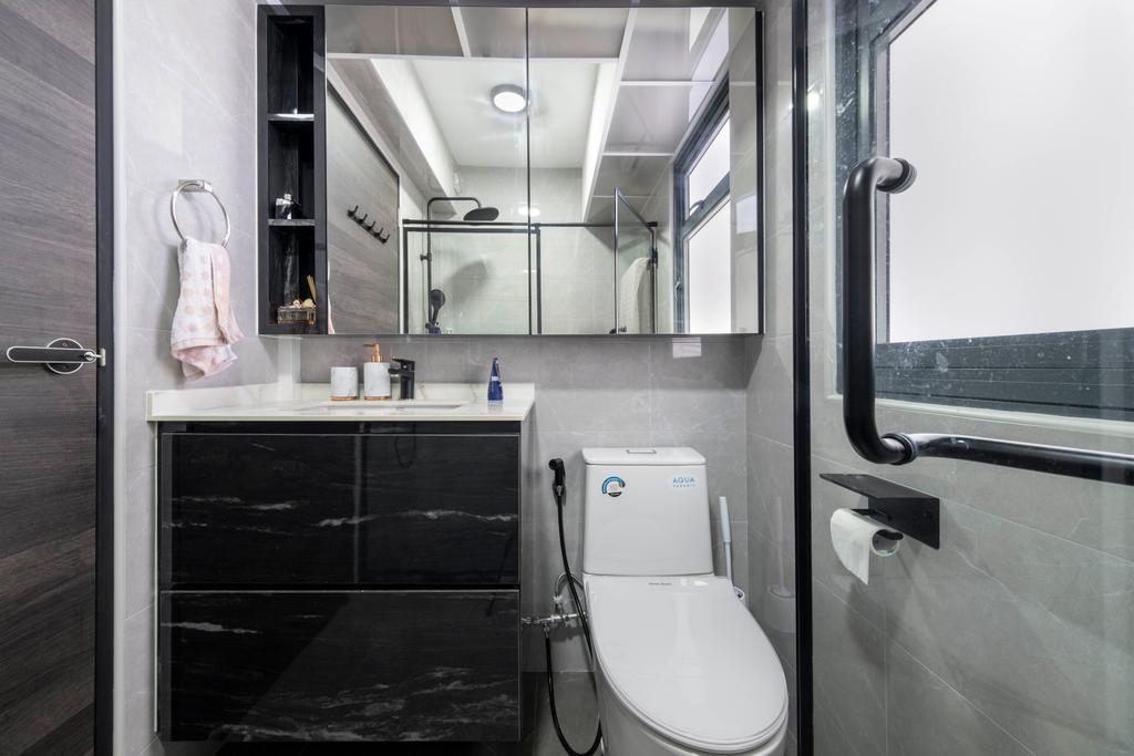 Modern, HDB, Bathroom, Clementi Avenue 3, Interior Designer, Starry Homestead