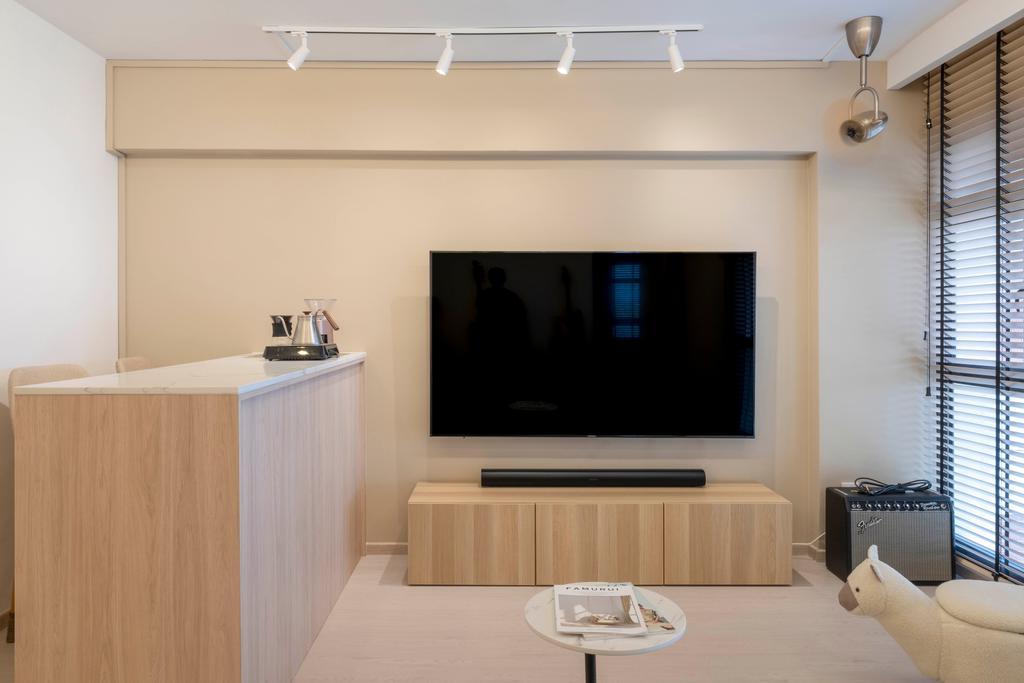 Scandinavian, HDB, Living Room, Redhill Road, Interior Designer, Starry Homestead