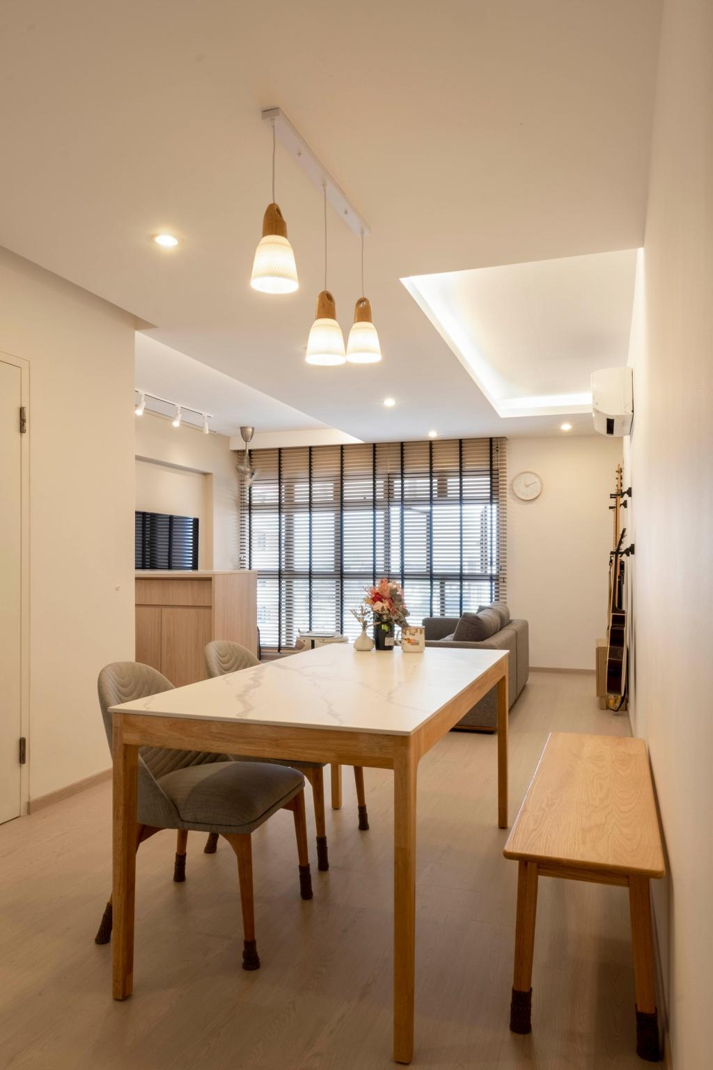 Scandinavian, HDB, Dining Room, Redhill Road, Interior Designer, Starry Homestead