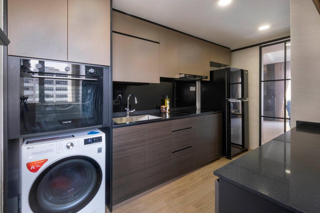Modern, Condo, Kitchen, Le Crescendo, Interior Designer, Starry Homestead