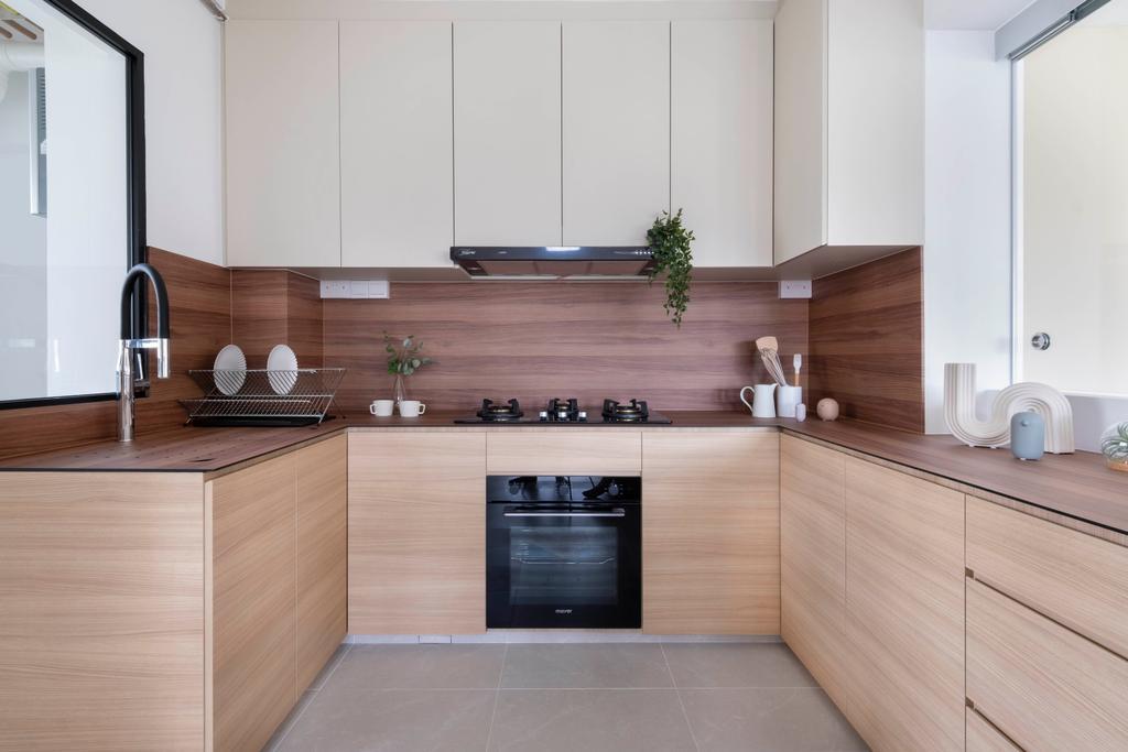 Scandinavian, HDB, Kitchen, Woodlands Drive 40, Interior Designer, Starry Homestead