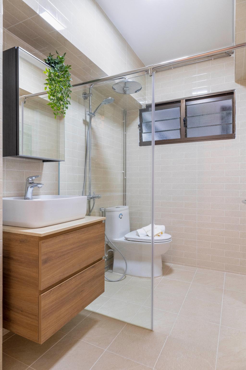 Scandinavian, HDB, Bathroom, Woodlands Drive 40, Interior Designer, Starry Homestead