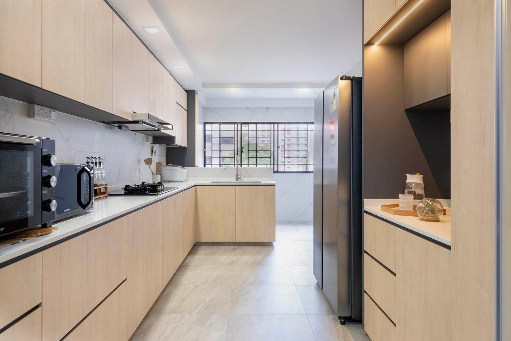 Modern, HDB, Kitchen, Jurong East Street 13, Interior Designer, Starry Homestead, Scandinavian
