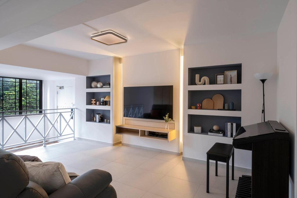 Modern, HDB, Living Room, Jurong East Street 13, Interior Designer, Starry Homestead, Scandinavian