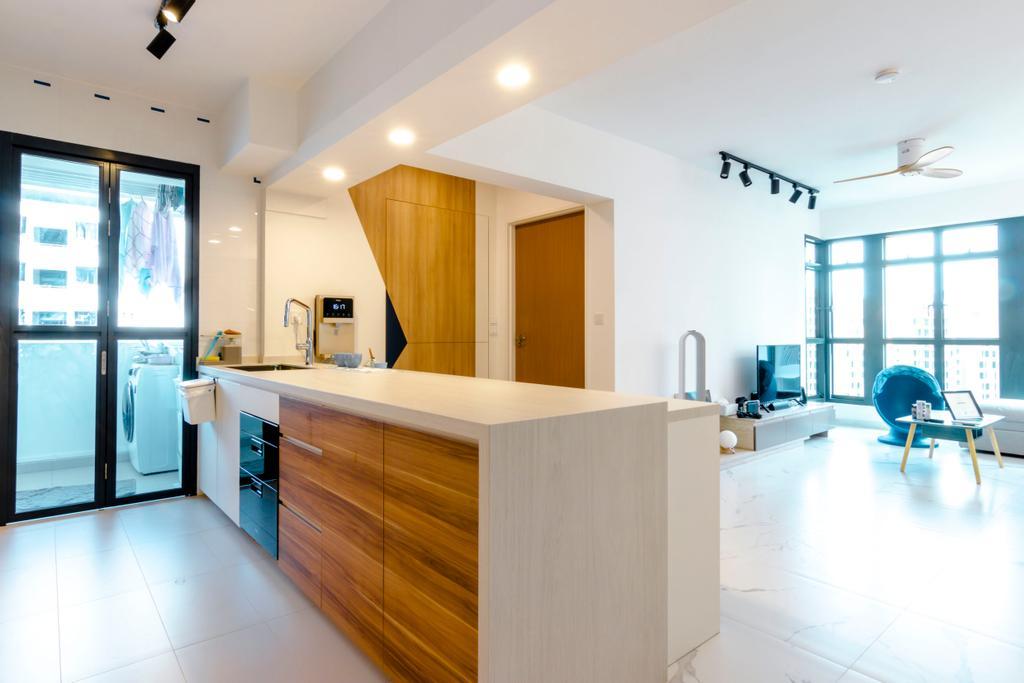 Contemporary, HDB, Kitchen, Bidadari Park Drive, Interior Designer, 9 Creation