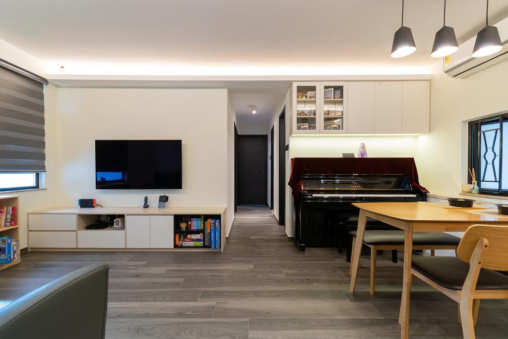 摩登, 公屋/居屋, 客廳, 杏花邨, 室內設計師, 現時設計