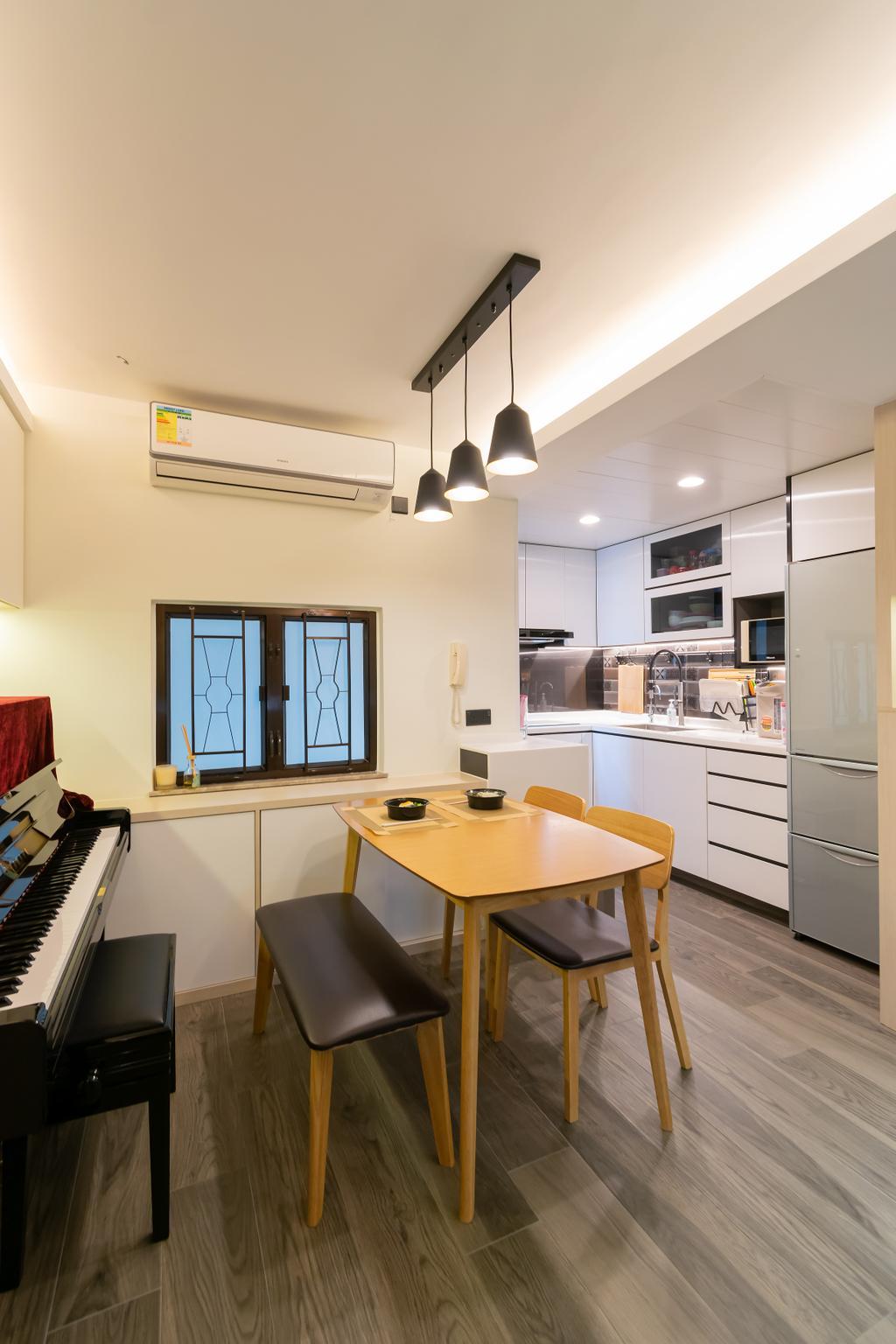 摩登, 公屋/居屋, 飯廳, 杏花邨, 室內設計師, 現時設計