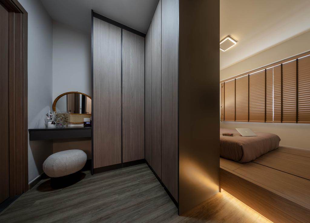 Contemporary, HDB, Bedroom, Canberra Street, Interior Designer, Weiken.com