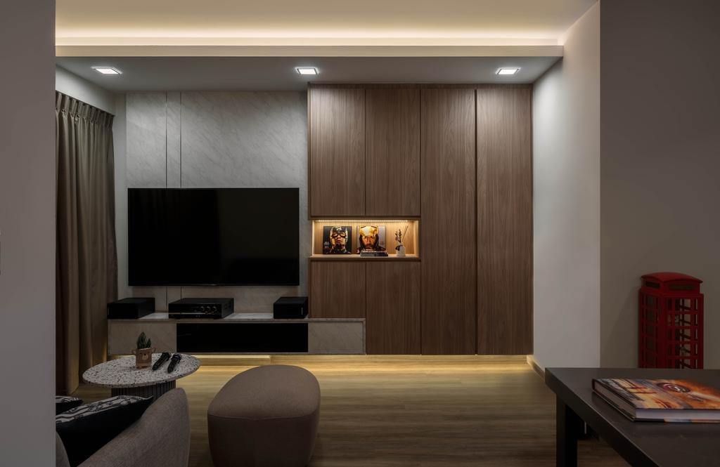 Contemporary, HDB, Living Room, Canberra Street, Interior Designer, Weiken.com