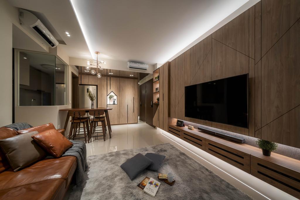 Contemporary, HDB, Living Room, The Visionaire, Interior Designer, Weiken.com