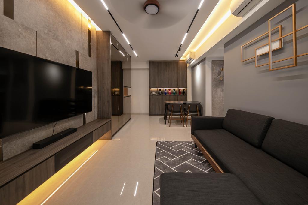 Modern, Condo, Living Room, Rivercove Residences, Interior Designer, Space Atelier, Contemporary
