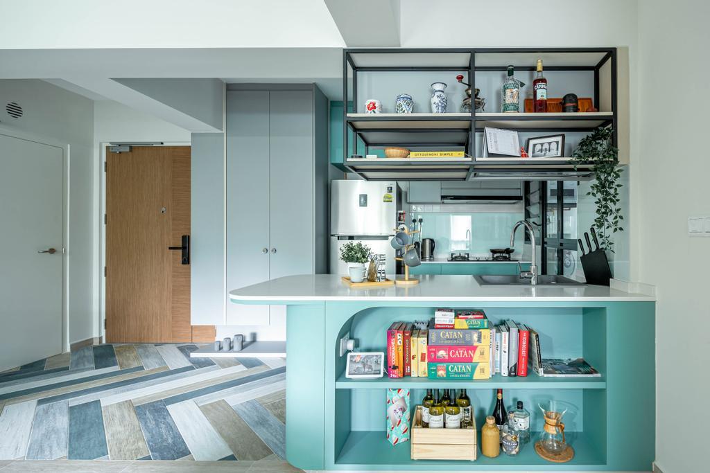 Contemporary, HDB, Kitchen, Bidadari Park Drive, Interior Designer, Idfferent Design