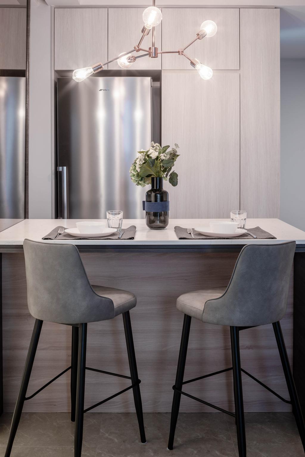 Contemporary, Condo, Dining Room, The Clement Canopy, Interior Designer, Idfferent Design, Scandinavian