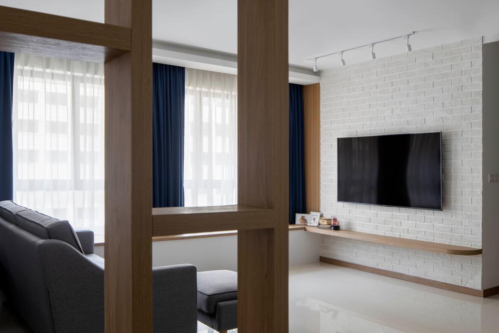 Scandinavian, HDB, Living Room, West Plains @ Bukit Batok, Interior Designer, Fifth Avenue Interior