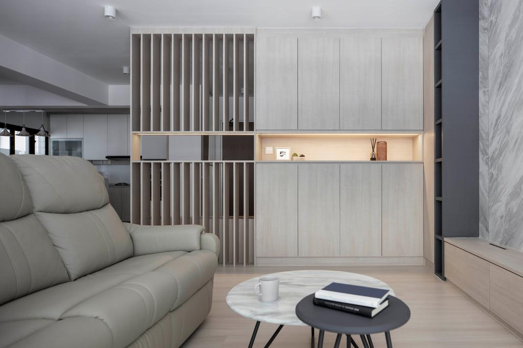 Contemporary, HDB, Living Room, Tampines North Drive 1, Interior Designer, Fifth Avenue Interior