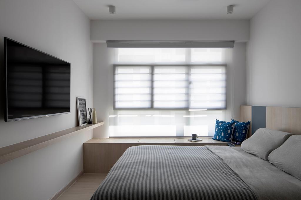 Contemporary, HDB, Bedroom, Tampines North Drive 1, Interior Designer, Fifth Avenue Interior