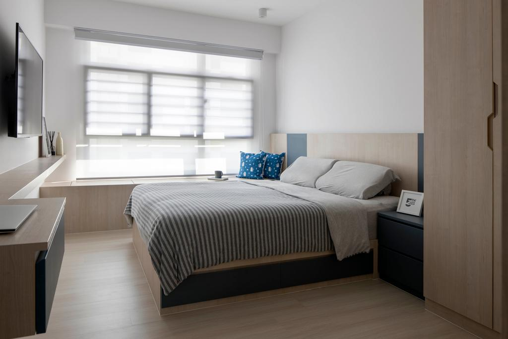 Contemporary, HDB, Bedroom, Tampines North Drive 1, Interior Designer, Fifth Avenue Interior